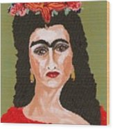 Just Frida Wood Print