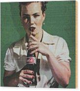 Just Like Old Times - Coca-cola Wood Print