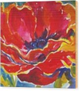 Just One Poppy  Sold Wood Print