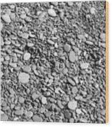 Just Rocks - Black And White Wood Print
