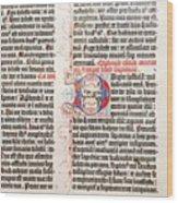 Gutenberg Bible Wood Print