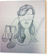 Justice Wood Print