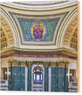 Justice Mural - Capitol - Madison - Wisconsin Wood Print