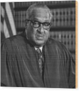 Justice Thurgood Marshall 1908-1993 Wood Print
