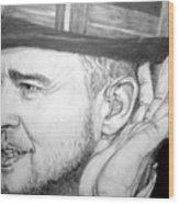 Justin Timberlake Wood Print