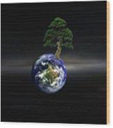 Juxtaposed Wood Print
