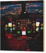 K C - 135 Stratotanker Cockpit Wood Print
