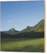Kaaawa Valley Wood Print by Dana Edmunds - Printscapes