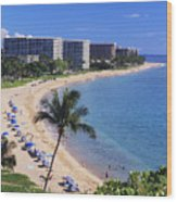 Kaanapali Beach Wood Print
