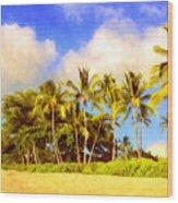 Kaanapali Beach Maui Wood Print
