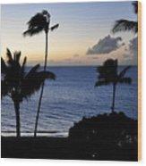 Ka'anapali Beach Maui Wood Print