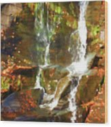 Cascading Water Wood Print