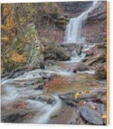 Kaaterskill Falls Autumn Portrait Wood Print