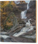 Kaaterskill Falls Autumn Square Wood Print