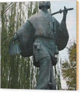 Kabuki Dancer Statue In Kyoto Wood Print