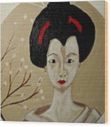 Kabuki Girl Wood Print