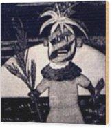 Kachina Goes Hawaiian Wood Print