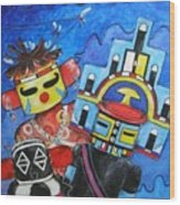 Kachina Knights Wood Print