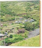 Kahakuloa Village Maui Hawaii Wood Print