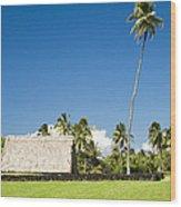 Kahanu Garden Hana Maui Hawaii Wood Print