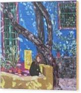 Kahlo Blue - Sold Wood Print
