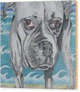 Kailey At The Beach Wood Print