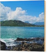 Kailua Bay Hawaii Wood Print