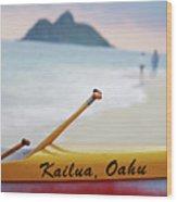 Kailua Paddleing Wood Print
