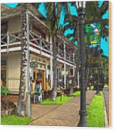 Kailua Village - Kona Hawaii Wood Print