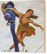 Kaitlyn Weaver And Andrew Poje Wood Print