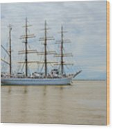 Kaiwo Maru On The Way To The Open Ocean. Wood Print