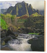 Kalalau Cathedral Wood Print