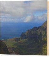 Kalalau Storm Clearing Wood Print