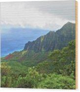 Kalalau Trail Overlook Wood Print