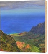 Kalalau Valley Wood Print