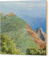 Kalalau View Wood Print