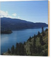 Kalamalka Lake Wood Print