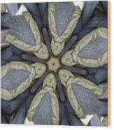 Kaleidoscollage Wood Print