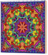 Kaleidoscope 2 Wood Print