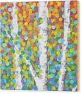 Kaleidoscope Canopy Wood Print