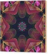 Kaleidoscope Christmas Poinsettia  Wood Print