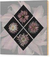 Kaleidoscope Diamond Wood Print