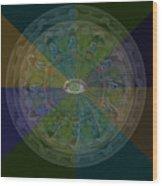 Kaleidoscope Eye Wood Print