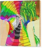 Kaleidoscope Girl Wood Print