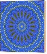Kaleidoscope Iris Three Wood Print