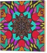 Kaleidoscope Of Color Wood Print