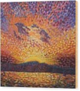 Kaleidoscope Sunrise Wood Print