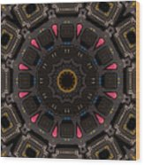 Kaleidoscopic Calculator Wood Print