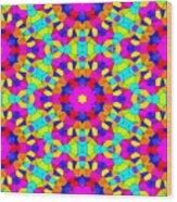 Kaleidoscopic Mosaic Wood Print