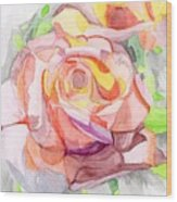 Kaleidoscopic Rose Wood Print